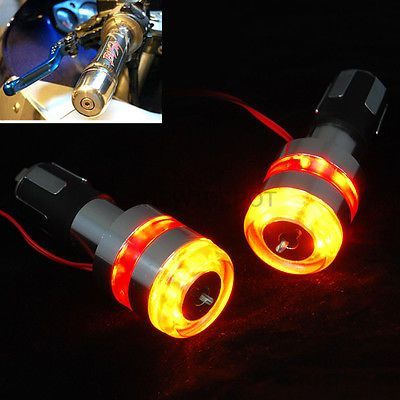 Details about Motorcycle Handle Bar End 12V LED Turn Signal Light