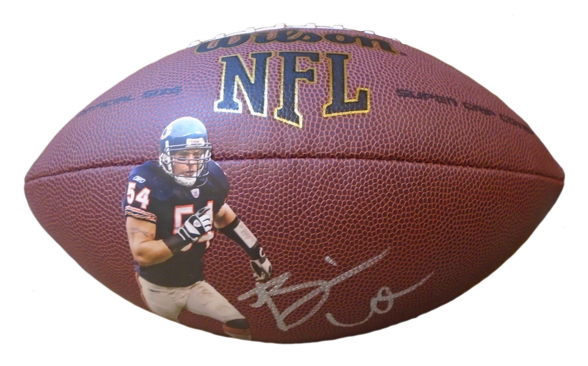 new product 7d56a 6c6c1 Brian Urlacher Autographed Custom Chicago Bears Photo NFL ...