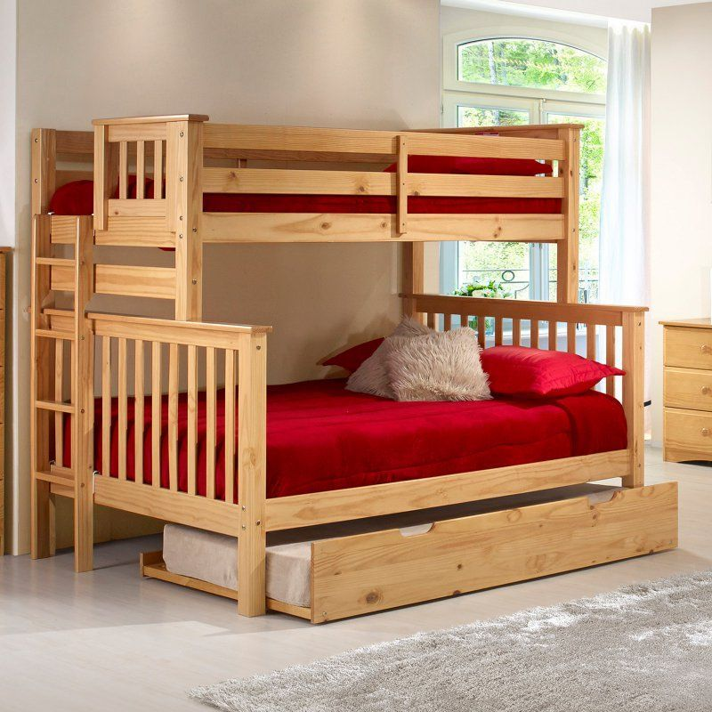 Camaflexi Santa Fe Mission Tall Bunk Bed Twin Over Full Bed End
