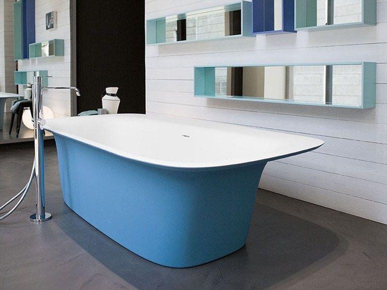 Rectangular Cristalplant® bathtub SARTORIALE by Antonio Lupi Design ...