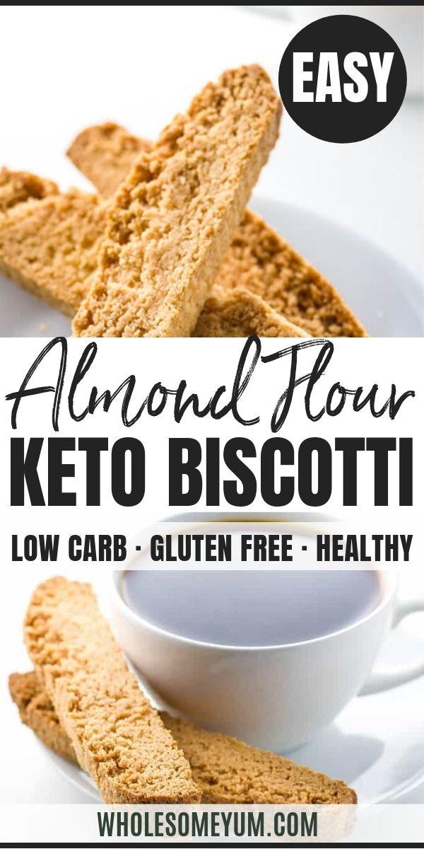 Low Carb Almond Flour Biscotti (Paleo, Sugar-Free)