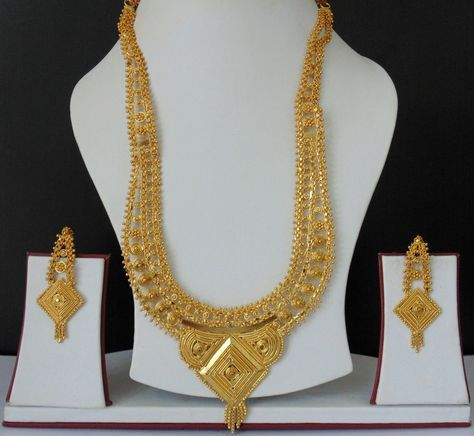 South Indian Bridal Jewelry Bollywood Ethnic Gold Plated Necklace
