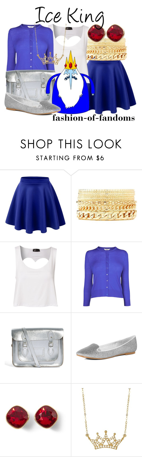 """""""Ice King"""" by fofandoms ❤ liked on Polyvore featuring LE3NO, Charlotte Russe, Club L, L.K.Bennett, The Cambridge Satchel Company, Dorothy Perkins and White House Black Market"""