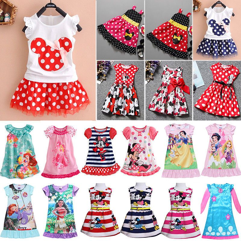 Toddler Kids Baby Girls Summer Dress Princess Party Pageant Holiday Tutu Dresses