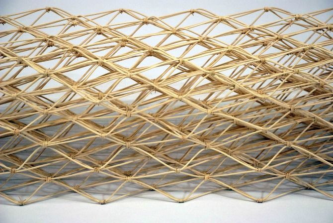 Bent Reed Table by Taylor McKenzie-Veal. \