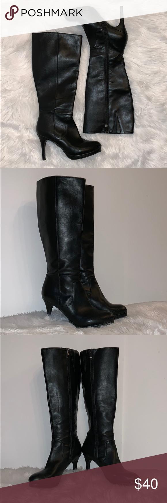 0cd3977d6888 Liz Claiborne Wide Calf Black Heeled Boots 8.5 EUC Liz Claiborne boots! Only  worn a