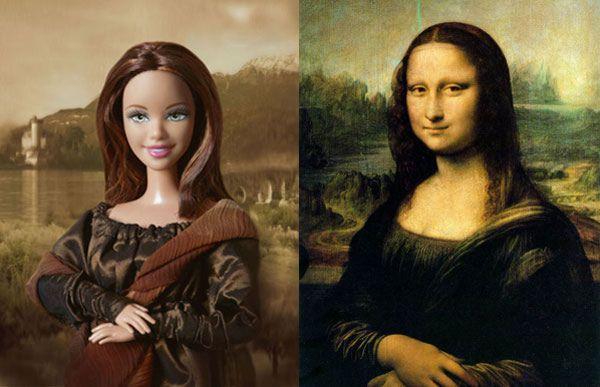 """Mona """"Barbie"""" Lisa."""