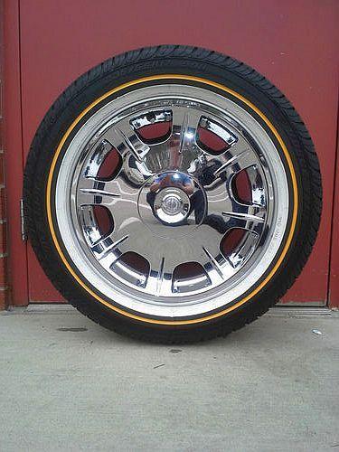 White Tire Paint >> Vogue Custom Built Tires (Used Radial VIII White & Gold Tires 235/55/R17)   WHEELS   Pinterest ...