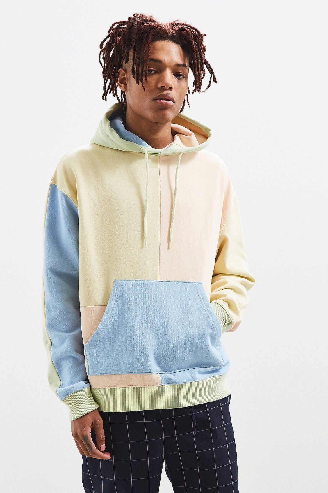 d0b511a6 UO Pastel Colour Block Hoodie in 2019 | Graphic design trends ...