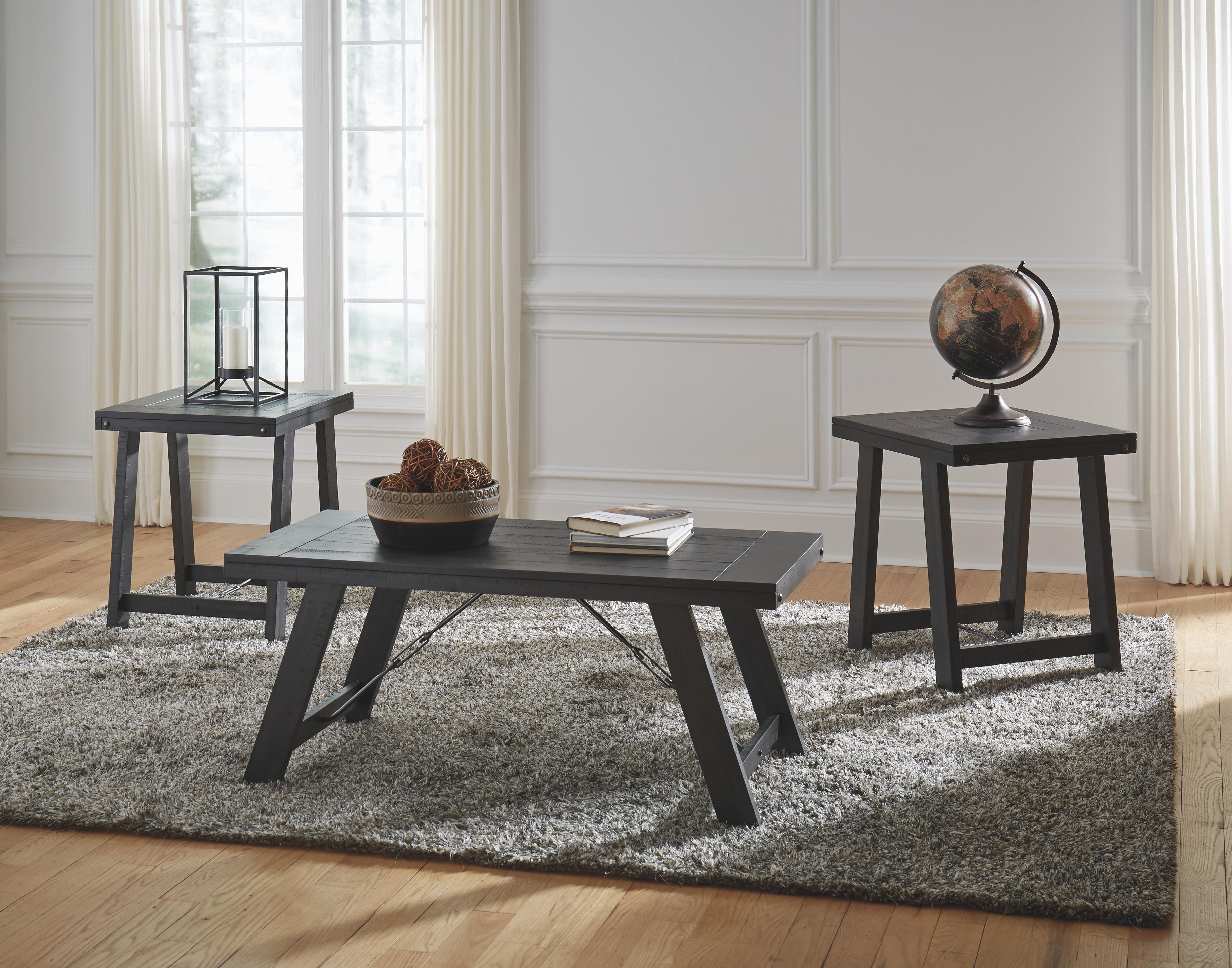 Noorbrook Table Set Of 3 Black Pewter Living Room Sets Coffee Table Coffee Table Wood [ 2880 x 3665 Pixel ]