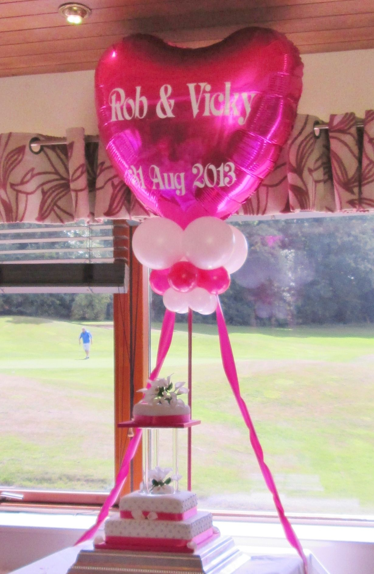 Personalised Balloon Cake Table Decoration | Wedding Balloons ...
