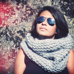 tricoter un snood tres grosse laine