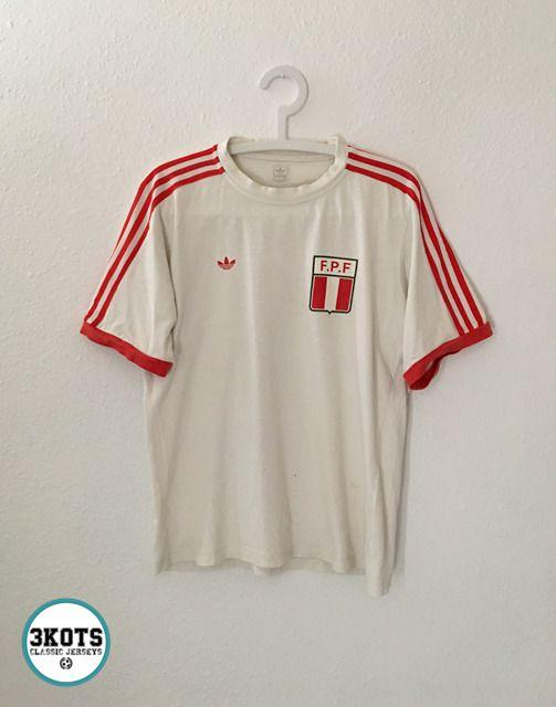 PERU 80´s RETRO FOOTBALL SHIRT S Soccer Jersey Vintage ADIDAS ...