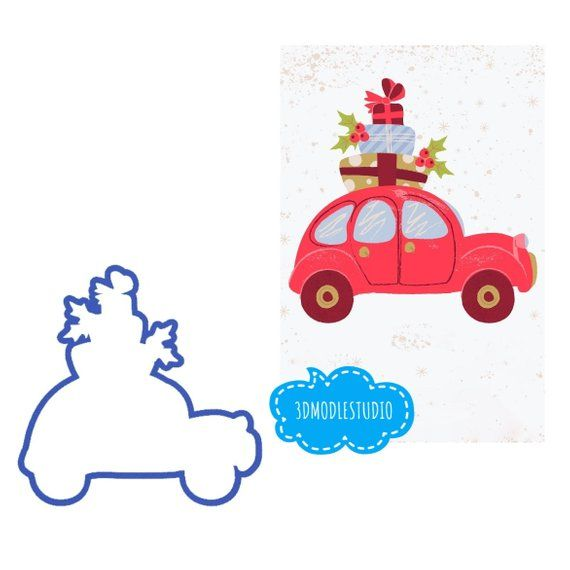Car with Christmas Tree Cookie Cutter,Christmas Tree Cookie Cutter