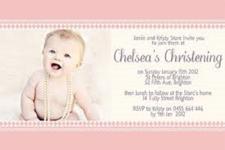 Newborn Party Invitation Card Naming Ceremony Invitation