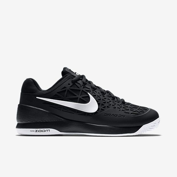Nike Court Zoom Cage 2 Mens Tennis Shoes 9 Black White 705247 001