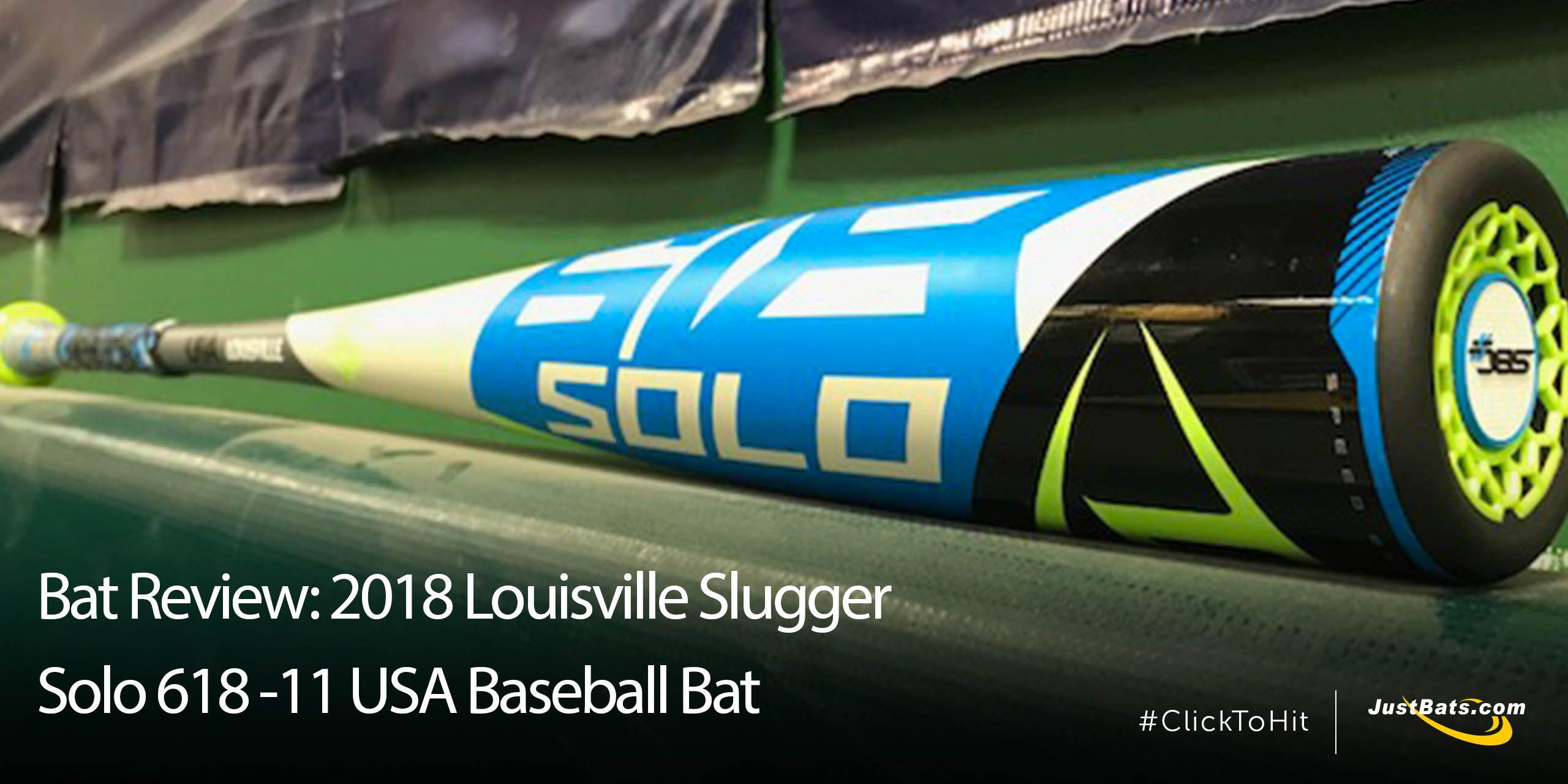 Bat Review: 2018 Louisville Slugger Solo 618 -11 USA Baseball Bat
