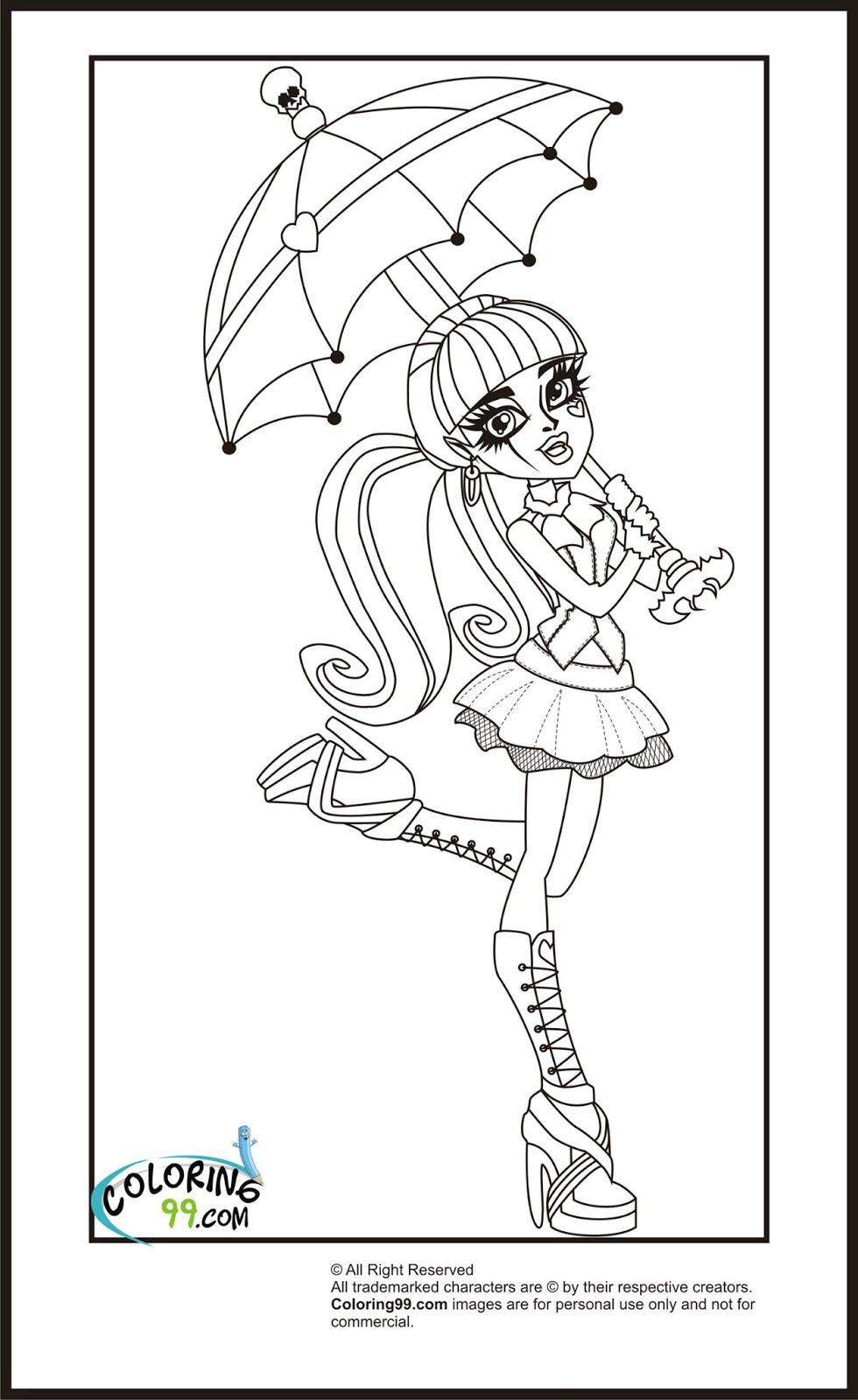 monster high coloring pages | Monster High Draculaura Coloring Pages ...