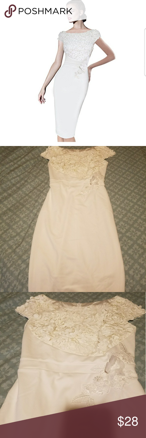 Women's White Elegant dress. Brand New, its in bag. They where gift to me but to small. VfEmage Dresses Wedding
