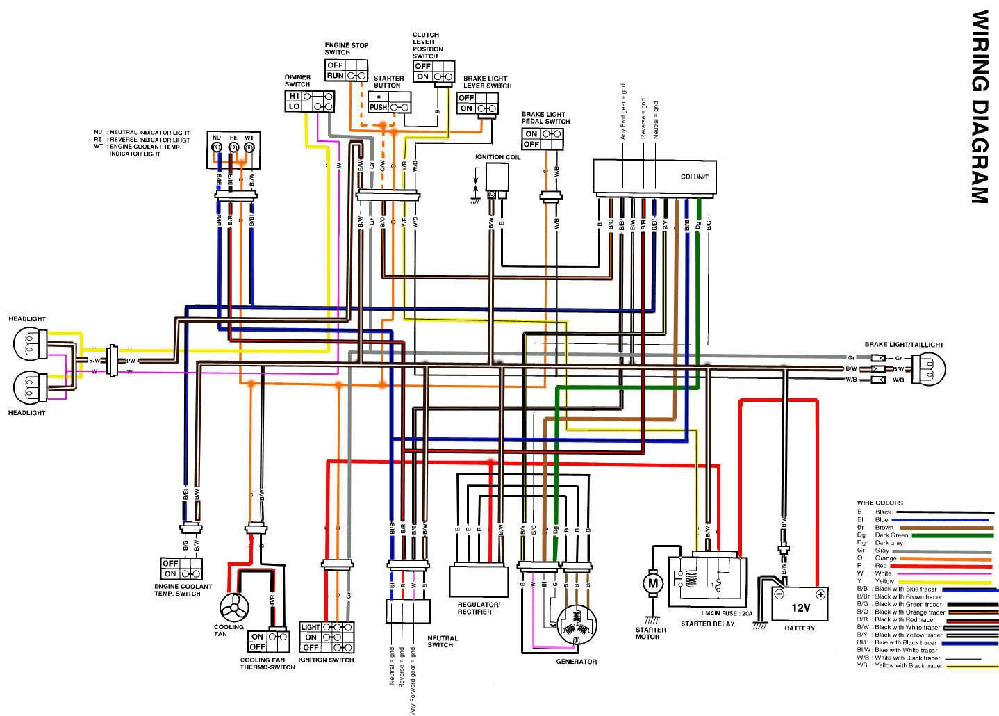 Zuzuki 400 Electrical Wiring Diagram Yamaha Diagram
