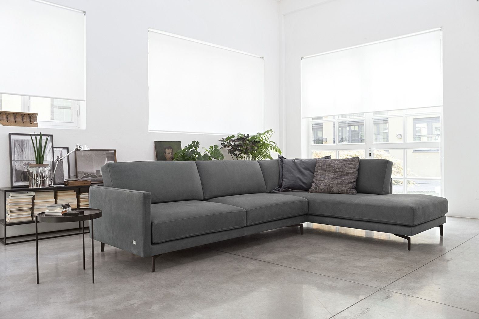 Divano Design Minimal Divano Konnor Leather Sofa Empio Collection By Doimo Salotti