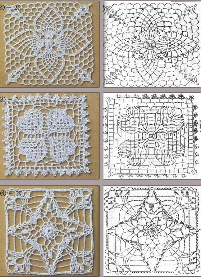 crochet pinapple, clover and star motifs! | crochê | Pinterest ...