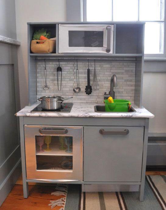 ikea duktig play kitchen makeover, mint | kid rooms | pinterest