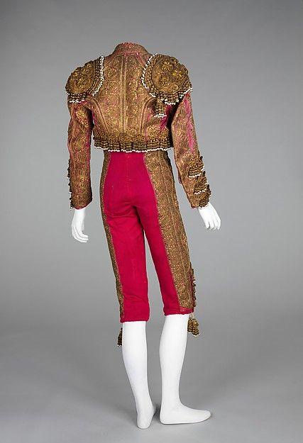 Toreador suit (image 2) | Spanish | Designer: J. Uriarte | Department Store: Alejandro Velasco | fourth quarter 19th century |  silk, metal, metallic, glass, linen | Brooklyn Museum Costume Collection at The Metropolitan Museum of Art