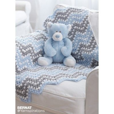 Free Easy Crochet Baby Blanket Pattern | Crochet | Pinterest ...