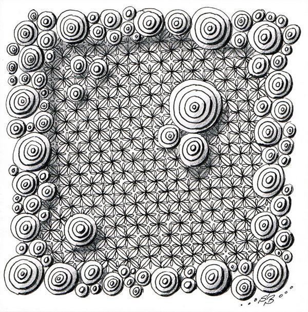 Eine interessante Musterwahllösung für Gittermuster | Zentangle ...