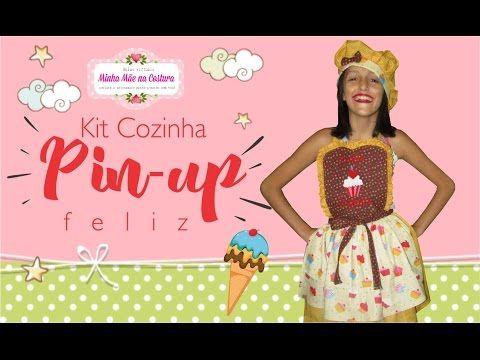 Kit Cozinha Pin-up Feliz   Minha Mãe na Costura