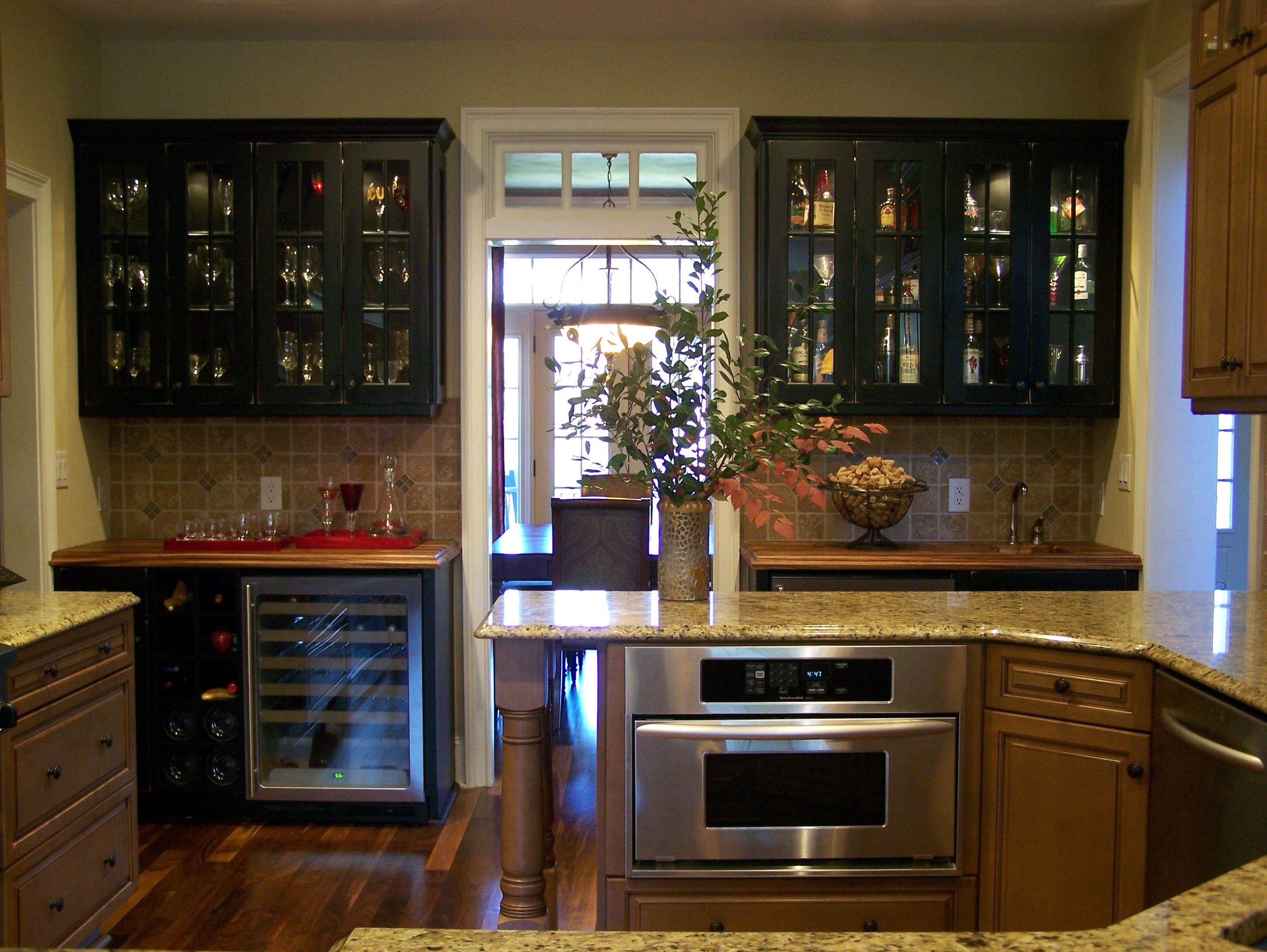 Wine Bar And Wet Bar In Kitchen Randy Aldridge Designs