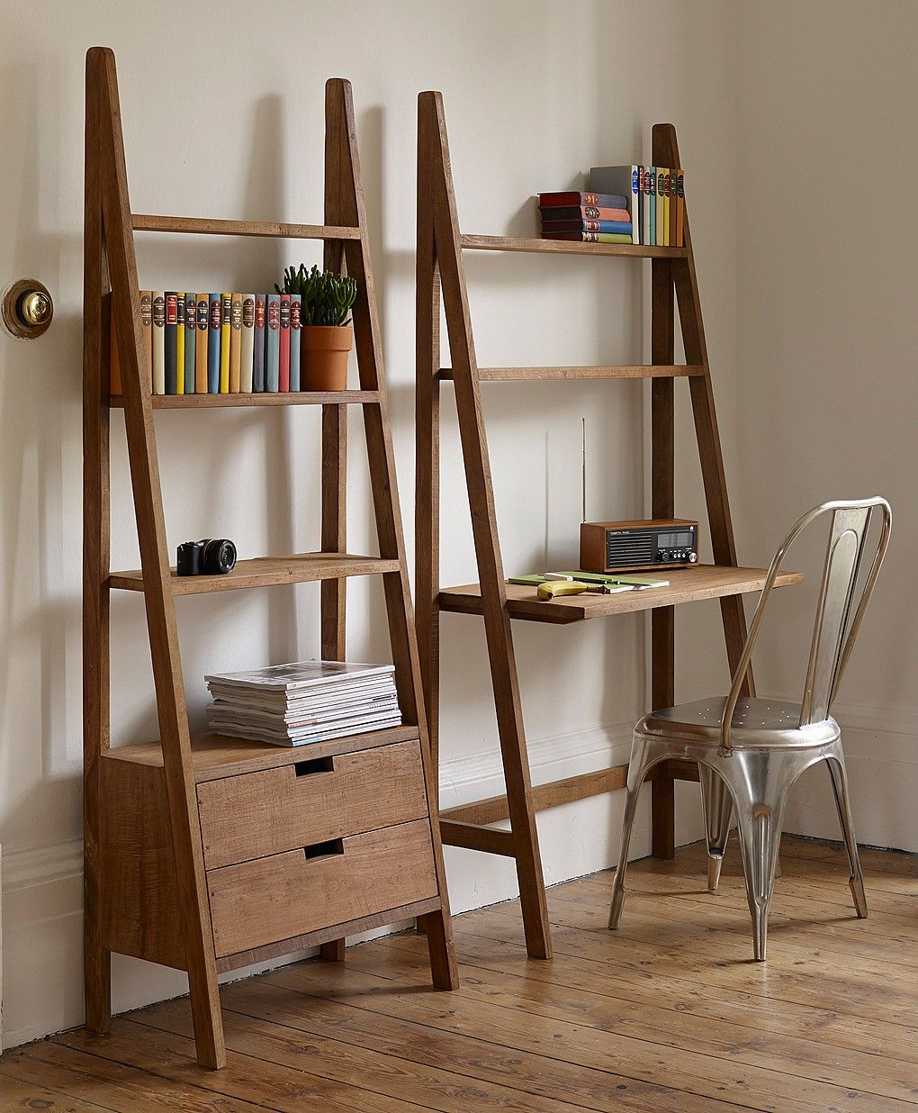 Sumatra Ladder Design Desk From Lombok Bookcase With Drawers