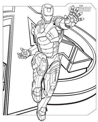 dibujos de ironman para colorear en avengers | Super Heroes Marvel ...