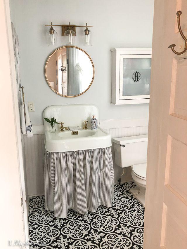 Photo of Magnolia Cottage: Vintage Small Bathroom Update   11 Magnolia Lane