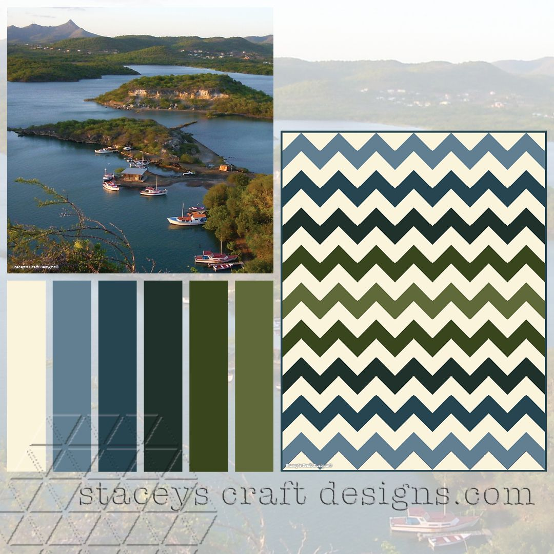 Colour Palette Curacao - Get your CUSTOMISED COLOUR DESIGN FOR YOUR QUILT at Stacey's Craft Designs