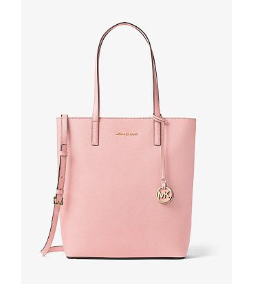 Bag · Hayley Large Top-Zip Leather Tote by MICHAEL Michael Kors.
