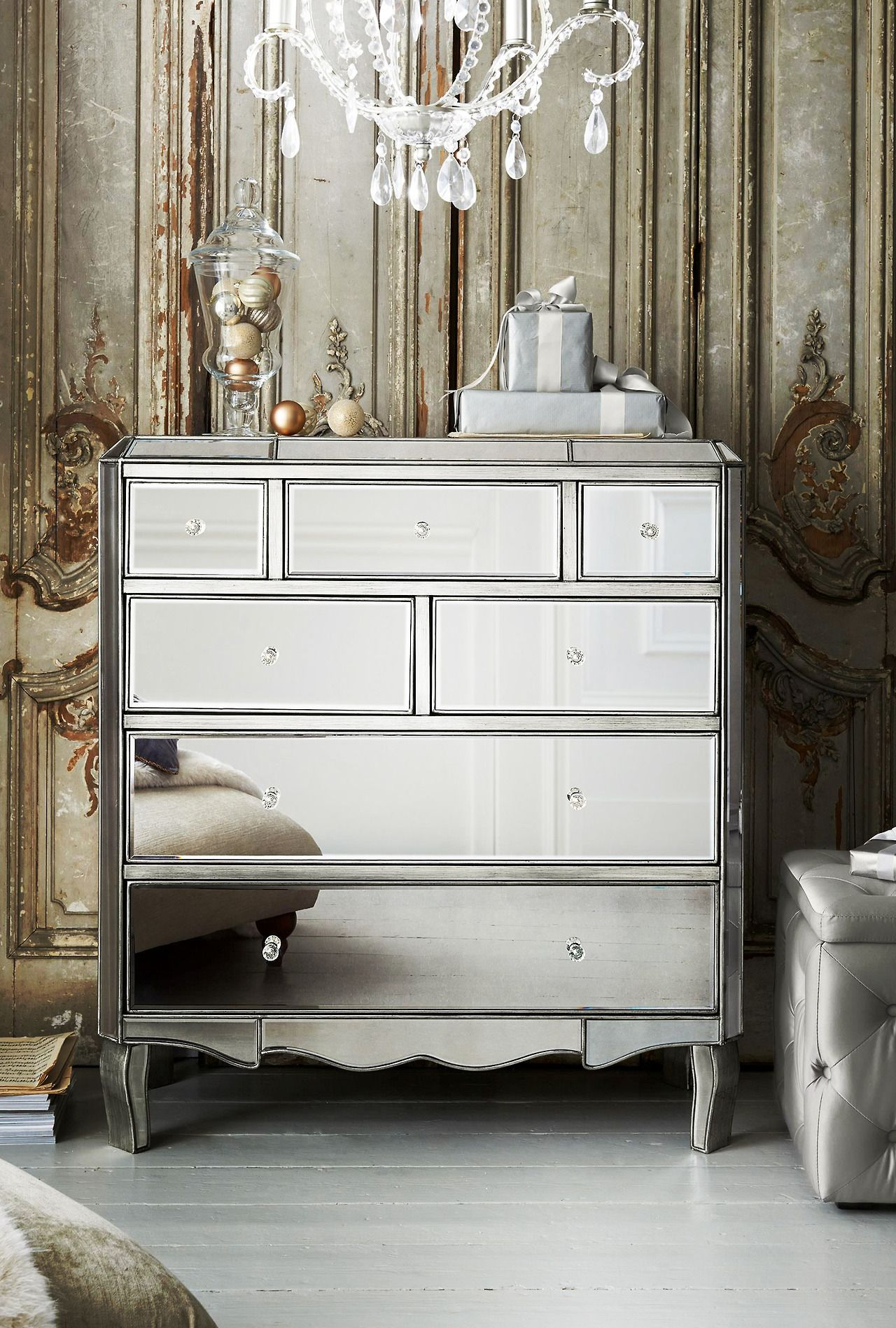 Next Home Bedroom Juliette Pewter Multi Chest From Next Interiors Pinterest