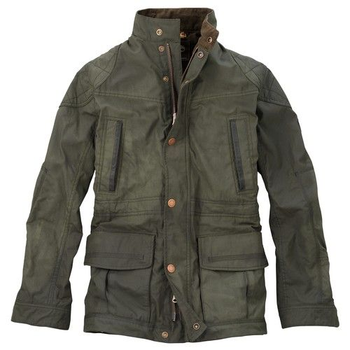 dcc3913ae1b Timberland Green Earthkeeper Broadview British Millerain Waxed Jacket M