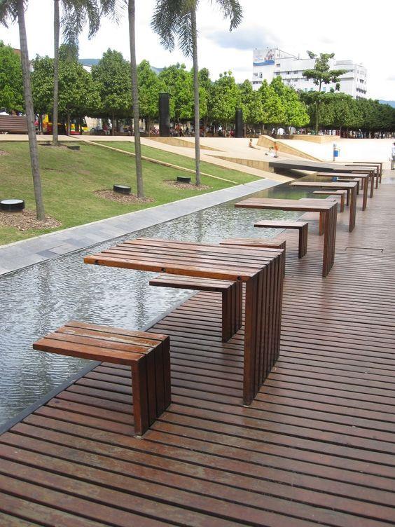 Mobili rio mesas bancas mobiliario urbano - Mesas de arquitectura ...