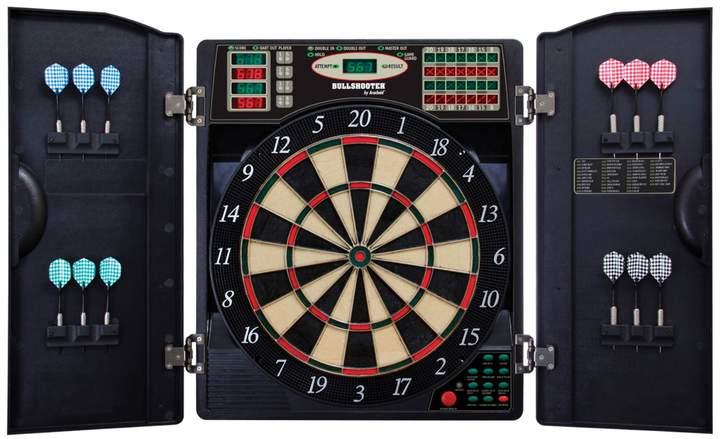Bullshooter E Bristle 1000 Steel Soft Tip Electronic Dartboard Cabinet Set In 2020 Electronic Dart Board Electronic Dart Board Cabinet Dart Board Cabinet