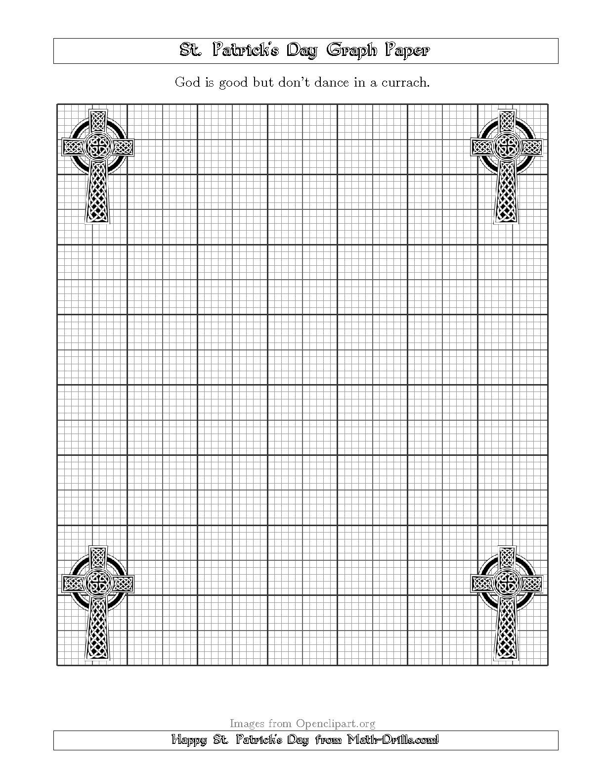 New St Patrick S Day Graph Paper Metric 3 Line With A