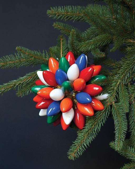 Vintage Christmas Lights.Vintage Bulb Ball Holiday Decor Designers Favorite