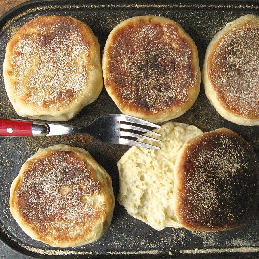 Homemade English Muffins From King Arthur Flour.