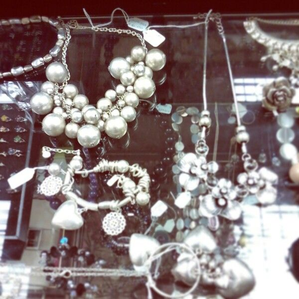 Silver costume jewellery