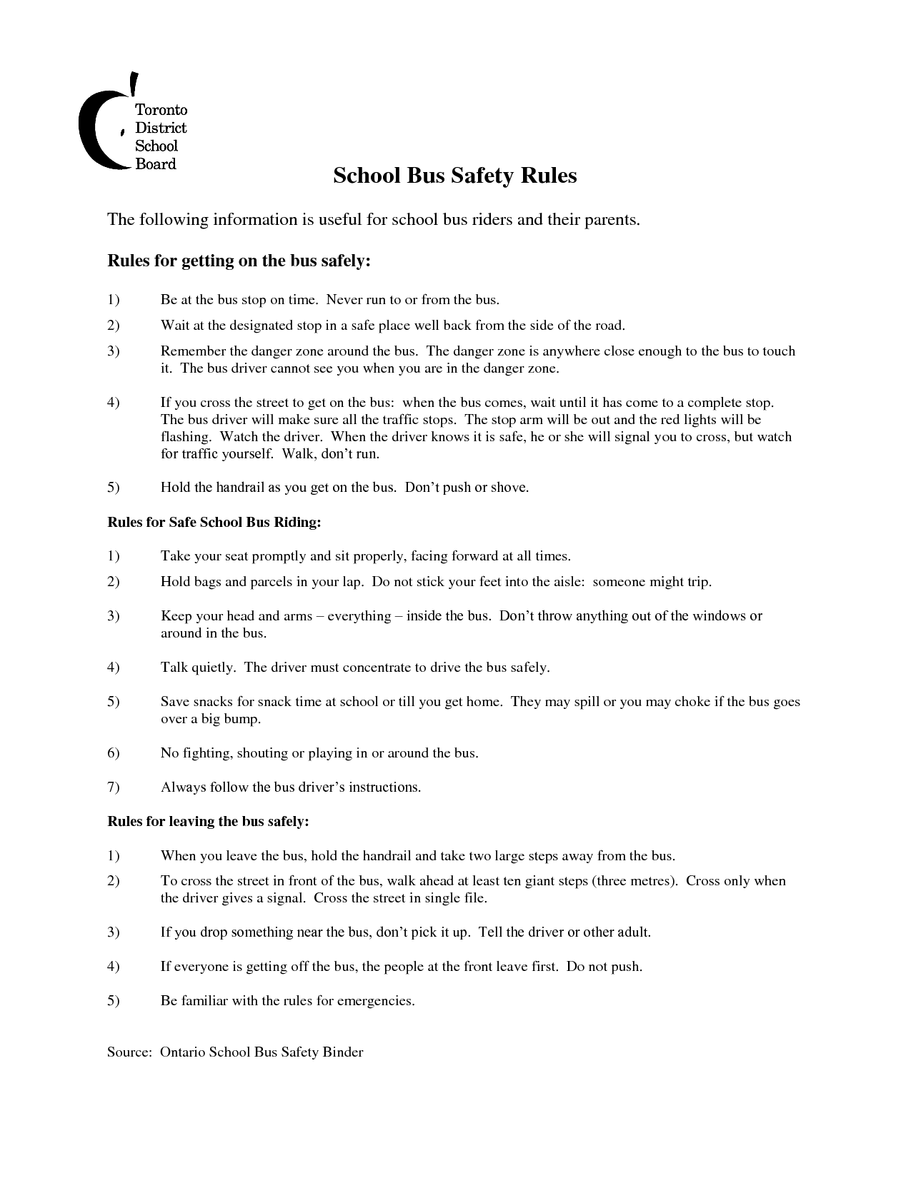 Worksheets Bus Safety Worksheets school bus safety rules projects to try pinterest rules