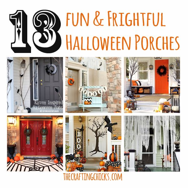 13 Fun & Frightful Halloween Porches #smallporchdecorating