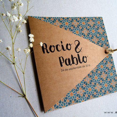 Invitaciones de boda originales manualidades en 2019 - Disenos tarjetas de boda ...