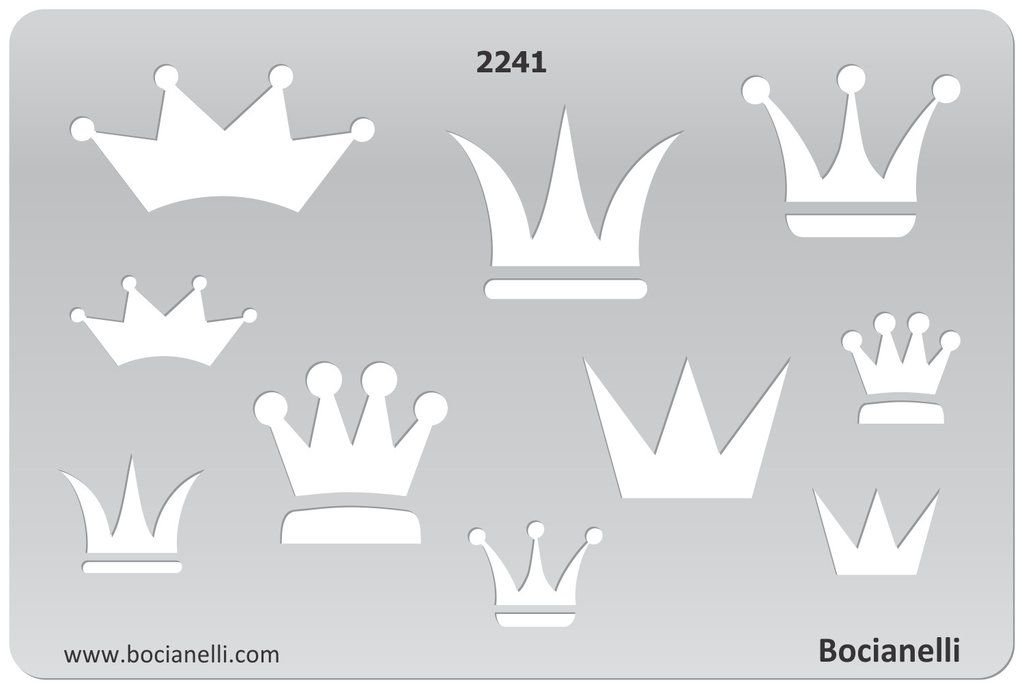 Stencil King Crown: Plastic Stencil Template For Graphical Design Drawing