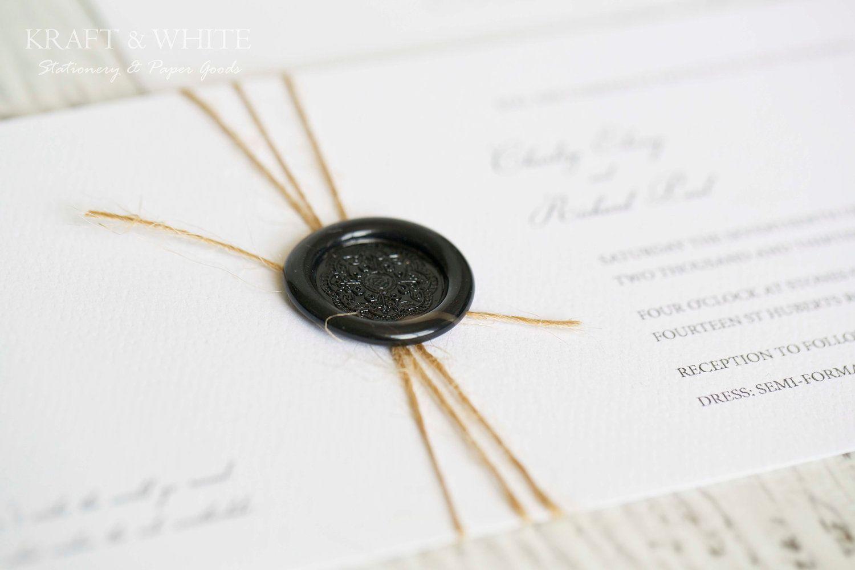Sample Wedding Invitation Set Suite 9 Wax Seal Natural Twine